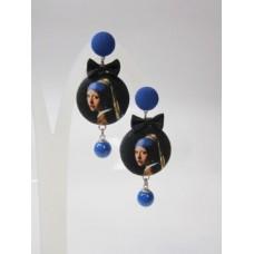 Orecchini dama blu
